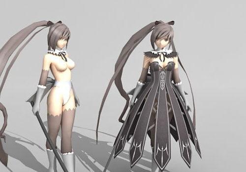 Anime Character Girl With Sword