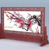 Chinese Carved Screen Decoration