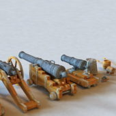 Vintage Weapon Military Cannons