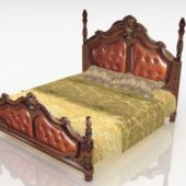 Antique Wooden Bed Victorian Style