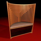 Curved Back Wood Chair Furniture