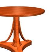Antique Round Wood Tea Table