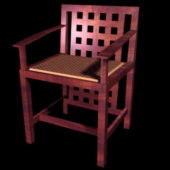 Antique Furniture Wood Accent Chair