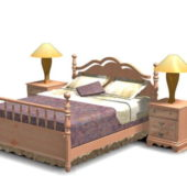 Antique Wood Bedroom Design