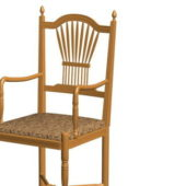 Antique Style Wood Chair Arms