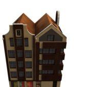 Apartment Building Shop Building