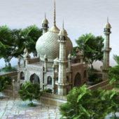 Ancient Arab Palace Architecture Building