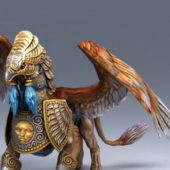 Griffin Creature Animal Character