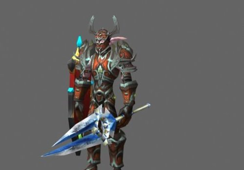 Armored Warrior Game Character