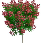 Nature Artificial Tree Red Flowers