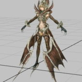 Asmodian Warrior Girl Character