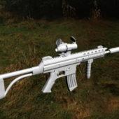 Weapon Gun Assault Rifle With Silencer