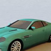 Cyan Aston Martin V12 Car