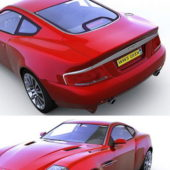 Red Aston Martin V12 Vantage Sports Car