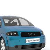 Blue Audi A2 Car