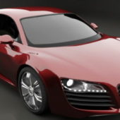Car Audi R8 Red Sports Car
