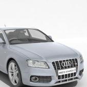 Blue Audi S5 Sedan Car