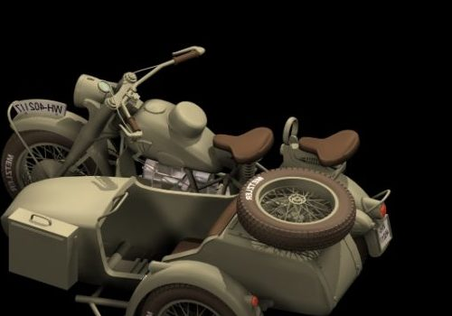 Motorcycle Bmw R75