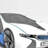 White Bmw Vision Concept Car