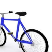 Blue Bike Bmx Bicycle