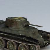 Military Bt-7 Soviet Cavalry Tank