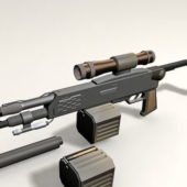 Barrett M98b Gun With Scope