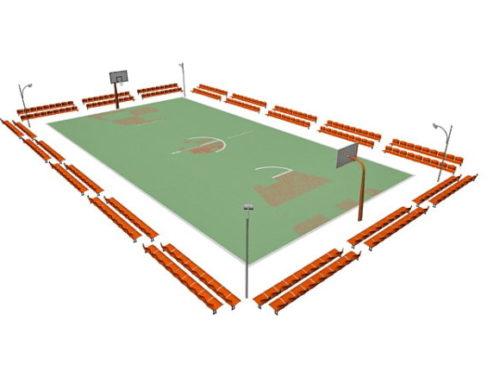 Basketball Court Arena Sport Building