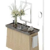 Home Bath Vanity With Shelf
