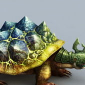 Game Battle Turtle Character