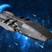 Sci-fi Galactica Spaceship