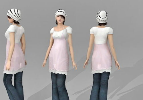 Beautiful Character Asian Girl V1