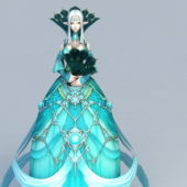 Beautiful Elf Princess Anime Character