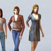 Beautiful Character Group Of Three Women