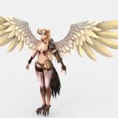 Character Beautiful Harpy Woman