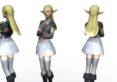 Beautiful Elf Girl Character