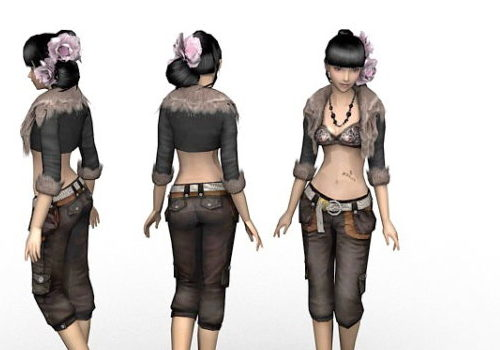 Beautiful Posh Girl Character
