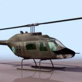 Bell Ab-206 Jetranger Military Helicopter