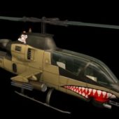 Military Bell Ah-1 Cobra Attack Helicopter