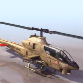 Bell Ah-1 Military Seacobra Attack Helicopter