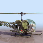 Bell H-13 Observation Helicopter