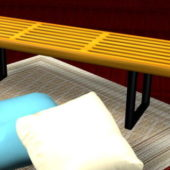 Home Furniture Bench And Pillows
