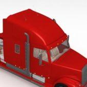 Red Big Semi Truck