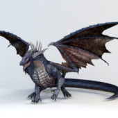 Animal Black Dragon