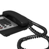 Vintage Black Corded Telephone