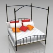 Iron Frames Four Poster Bed