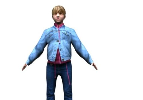 Character Uniform Blond Boy