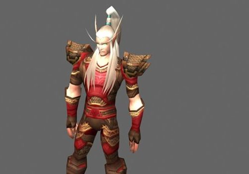 Blood Elf Male Game Character