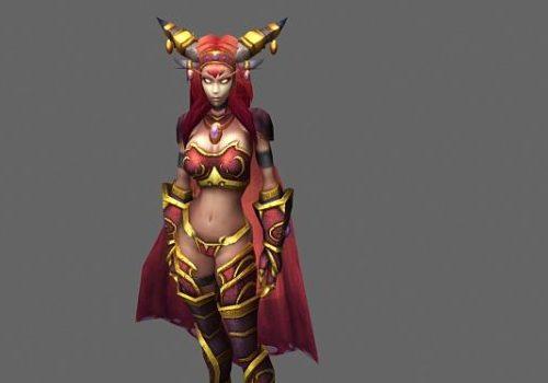 Blood Elf Female Game Character