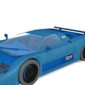 Blue Bugatti Eb110 Car