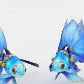 Aquarium Blue Goldfish
